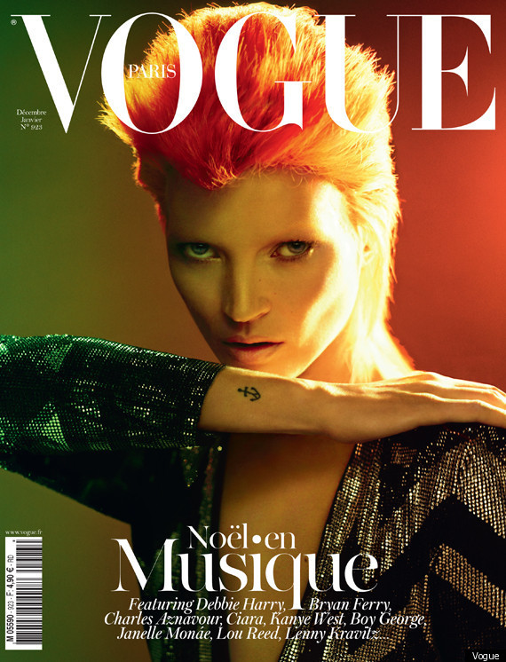 Kate Moss se transforma en David Bowie