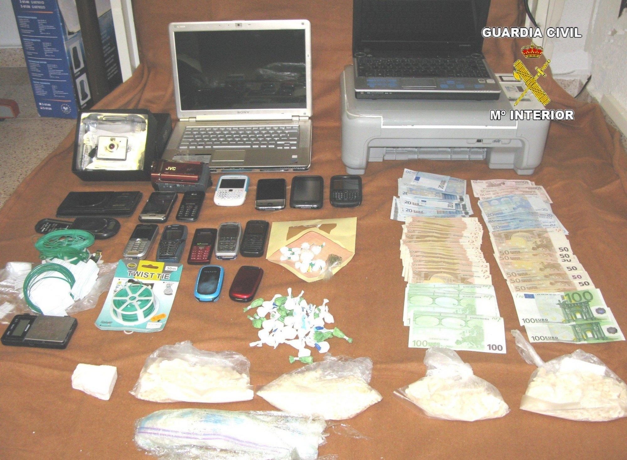 Detenidas 7 personas acusadas de tráfico de drogas en Calpe, Teulada y Benissa