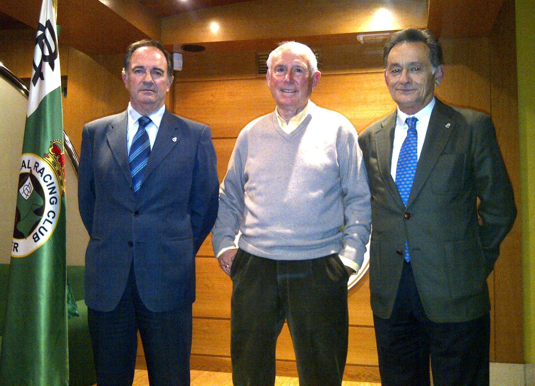 José Manuel Riancho, Laureano Ruiz y Pablo Galán representarán institucionalmente al Racing de Santander