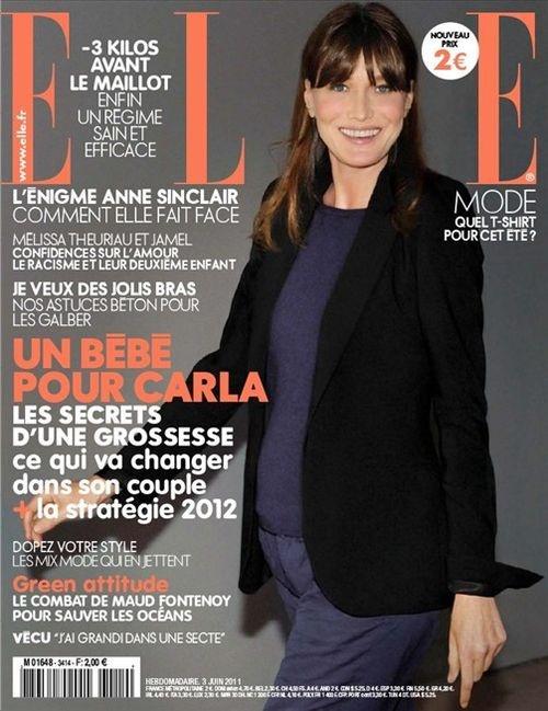 Carla Bruni reaparece en el Eliseo junto a Sarkozy tras su reciente maternidad
