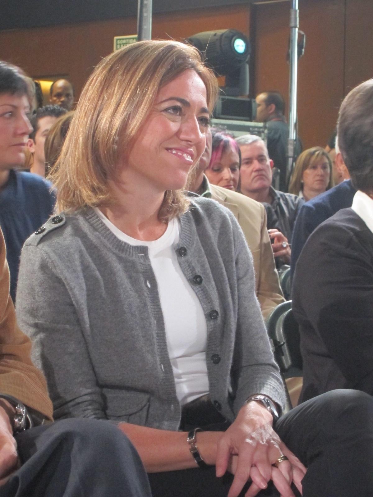 Chacón presenta este domingo en Zaragoza las propuestas de su candidatura a la Secretaría General del partido