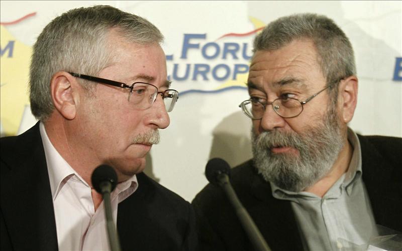UGT y CCOO piden a Rajoy que defienda en Europa cambiar la política económica