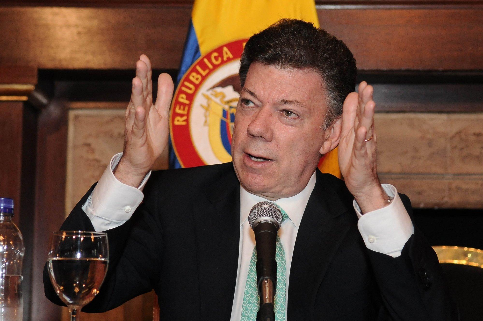 Santos dice que solo legalizará el consumo de drogas si «el mundo entero» también lo hace