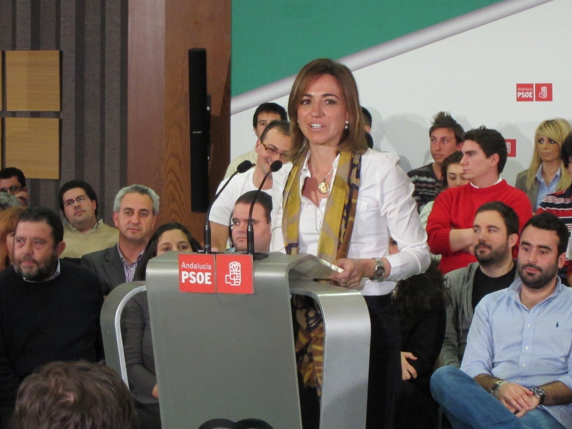Suspendido el acto de Carme Chacón en Cantabria ante los problemas con los vuelos