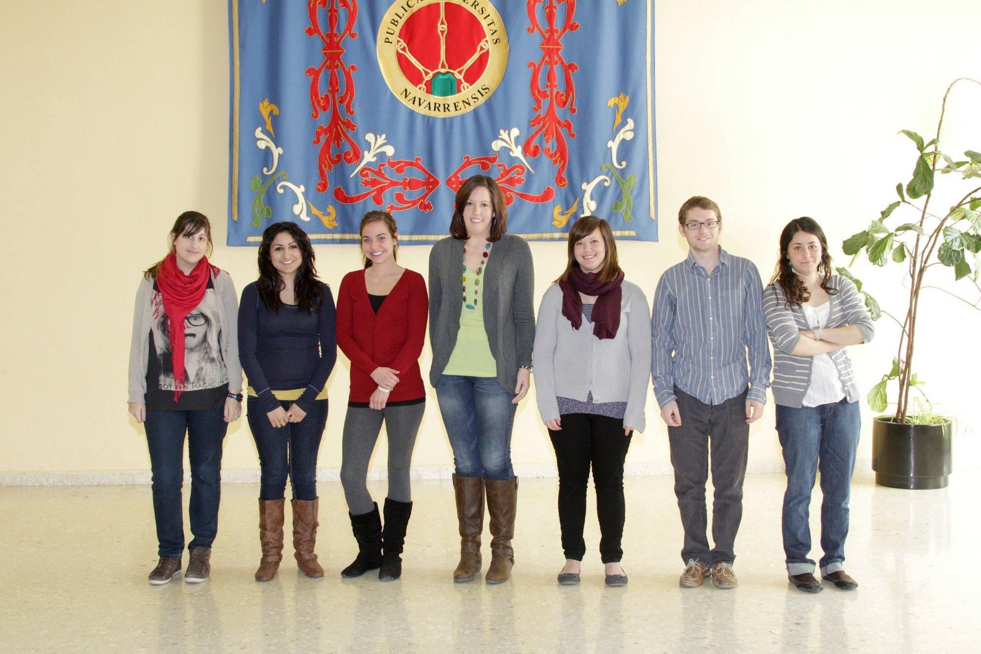 Seis alumnos estadounidenses realizan un curso de inmersión lingüística y cultural en español en la UPNA