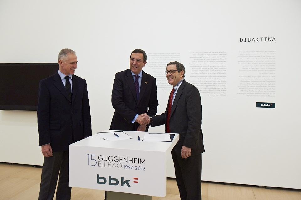 BBK Fundazioa aportará al Museo Guggenheim 750.000 euros anuales para proyectos culturales y sociales