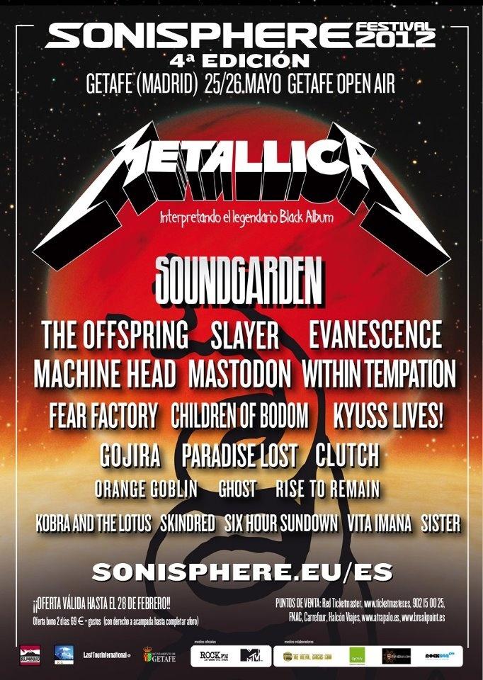 The Offspring, Evanescence y Machine Head se suman al Sonisphere