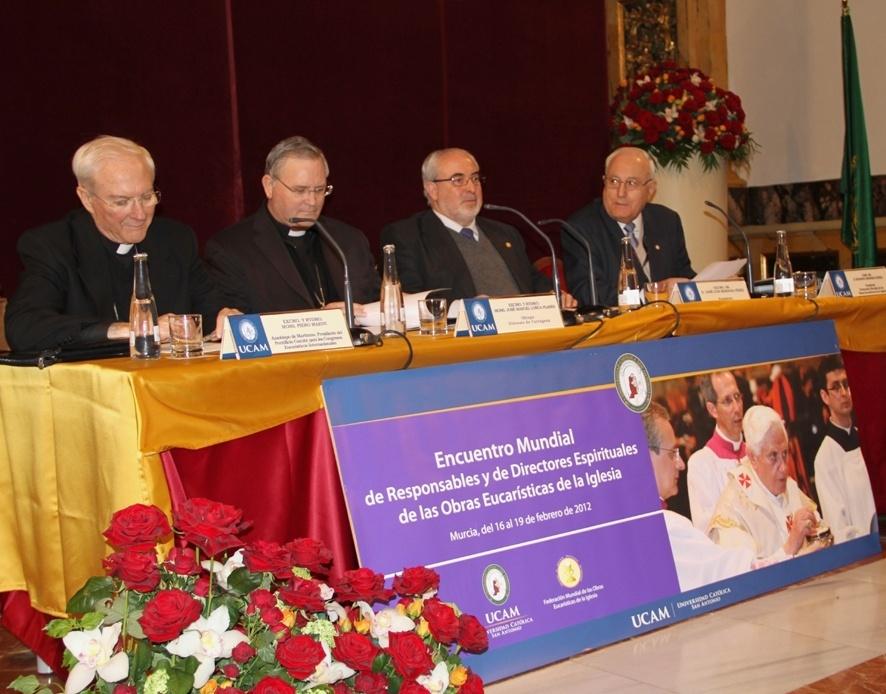 La UCAM inaugura el Encuentro Mundial de Responsables y Directores Espirituales de las Obras Eucarísticas de la Iglesia
