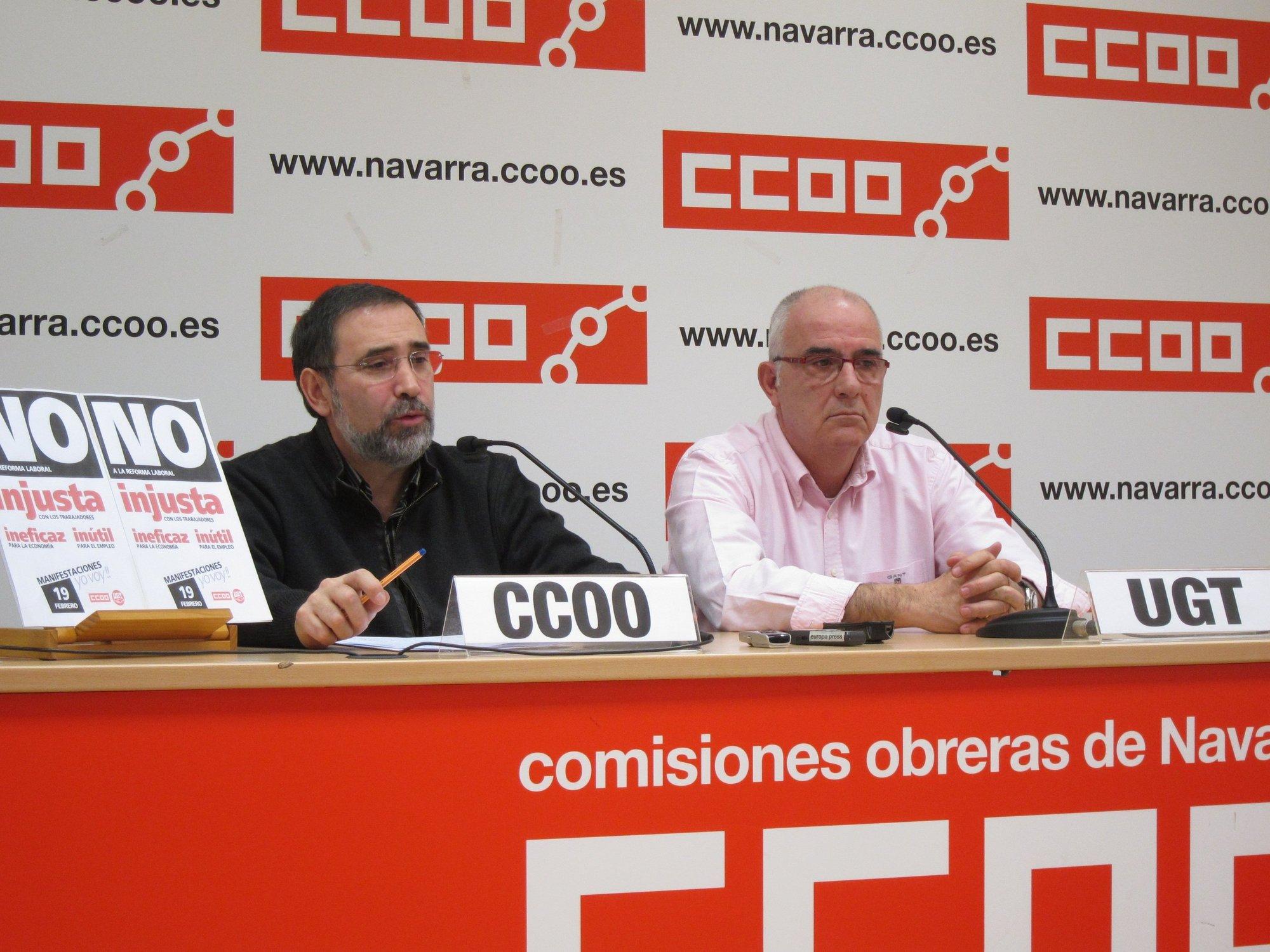 UGT y CCOO esperan una respuesta «contundente» en la manifestación del domingo y piden «unidad» contra la reforma