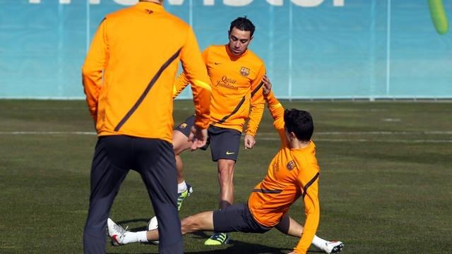 Xavi Hernández se entrena al mismo ritmo que sus compañeros