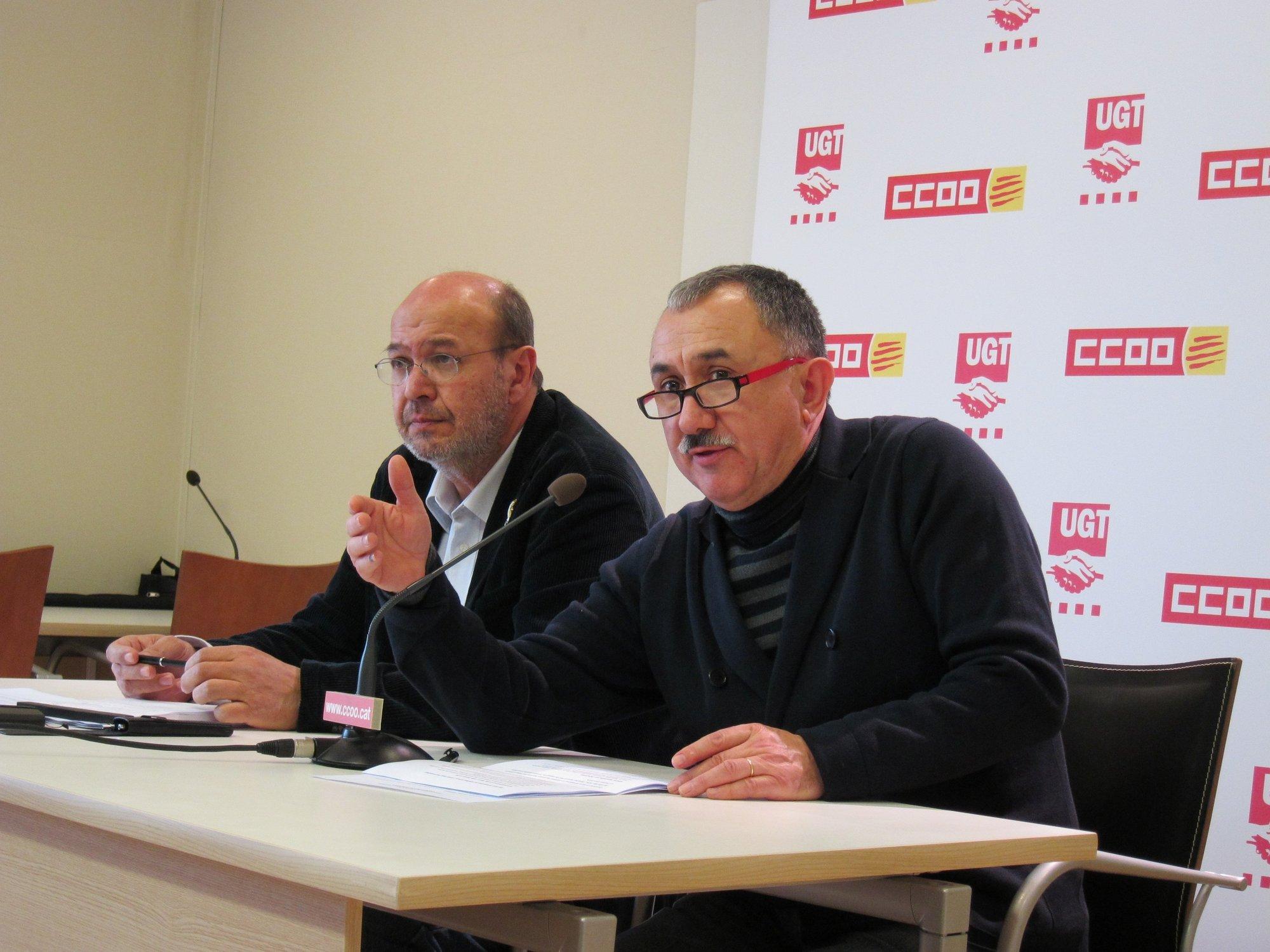 Los sindicatos catalanes esperan una gran participación en las manifestaciones contra la reforma laboral