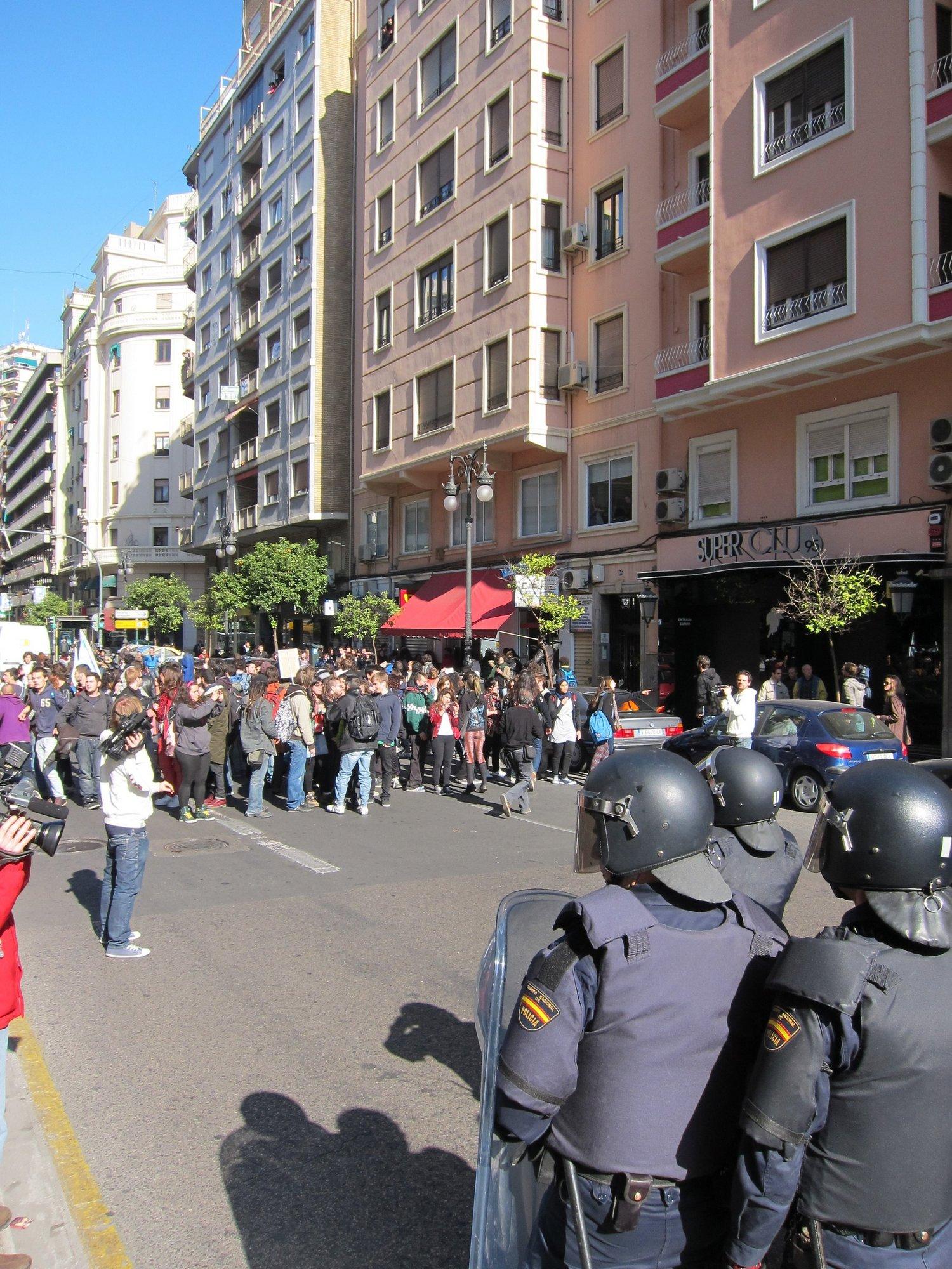La CEP asegura que la labor de la Policía ha sido «impecable» y pide que si se protesta se respeten los «límites»