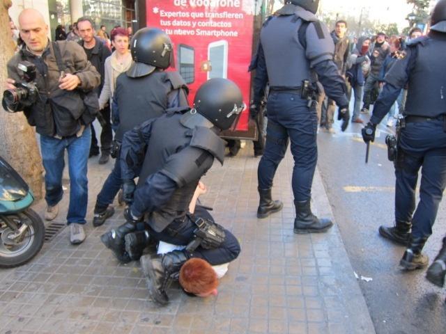 Catorce detenidos en la última protesta estudiantil en Valencia