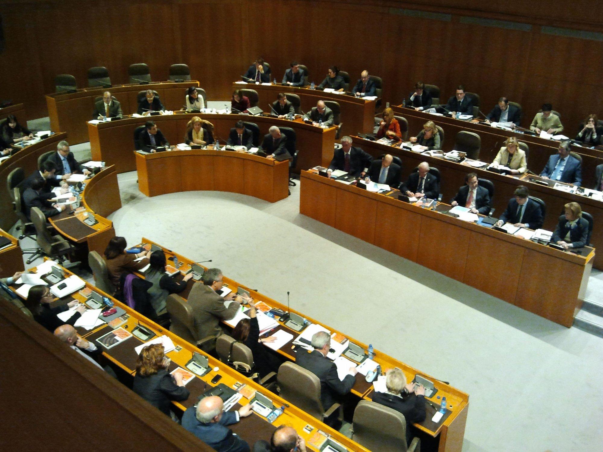 Las Cortes aprueban definitivamente el Presupuesto de 2012, con el apoyo de PP y PAR y el rechazo de PSOE, CHA e IU