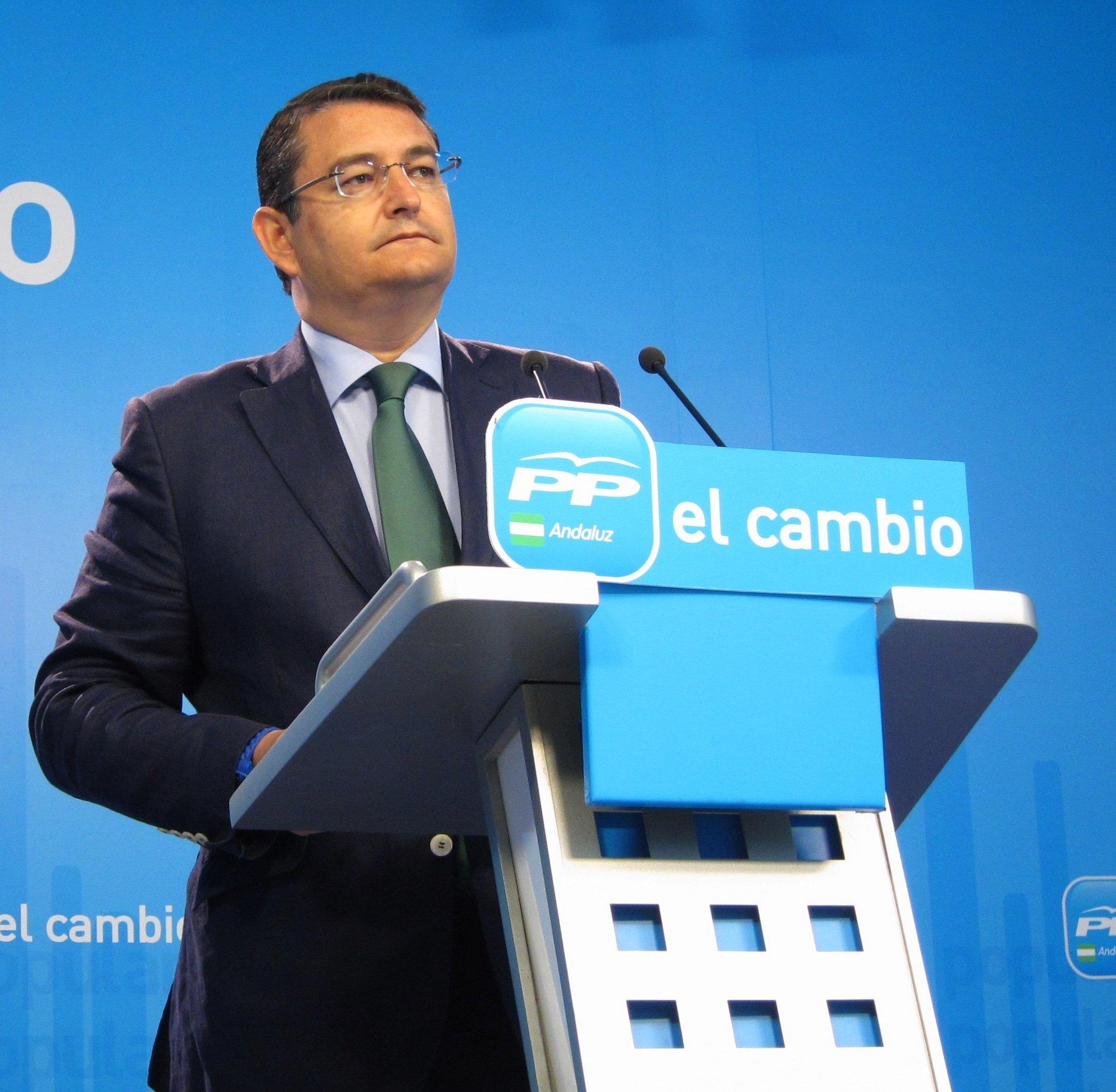 Sanz (PP-A) considera un «chiste de humor negro» que Díaz (PSOE-A) vea a Arenas como el «perdedor» del Congreso Nacional