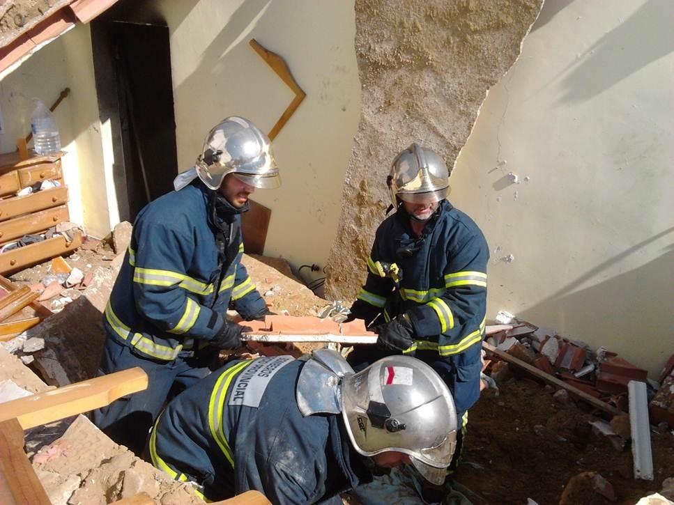 Los heridos al derrumbarse su vivienda en una población de Conil son un matrimonio de unos 50 años