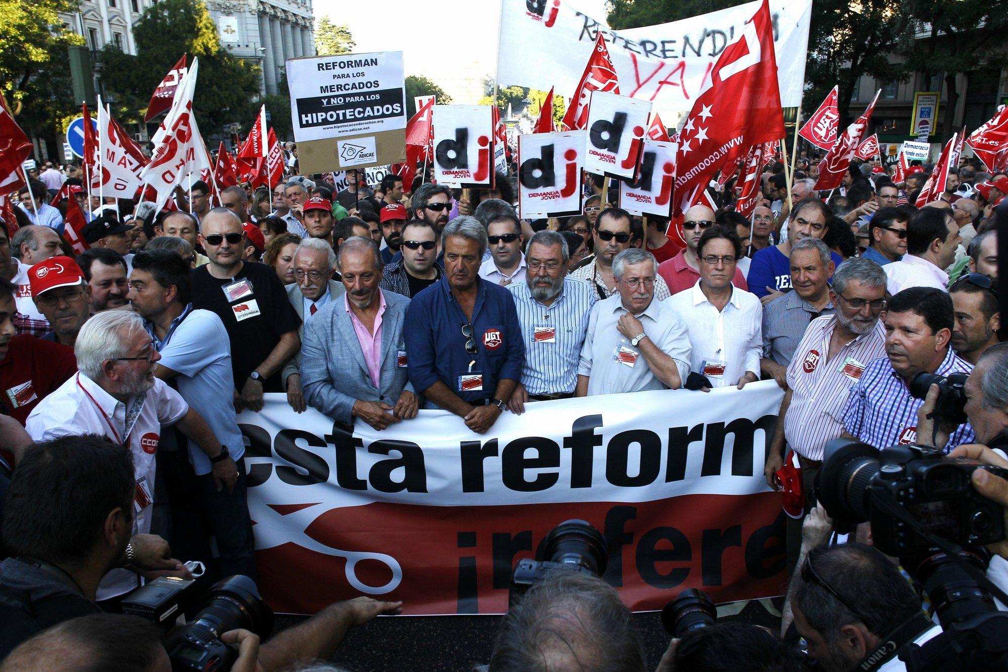 Los sindicatos preparan un documento con propuestas para corregir la reforma laboral