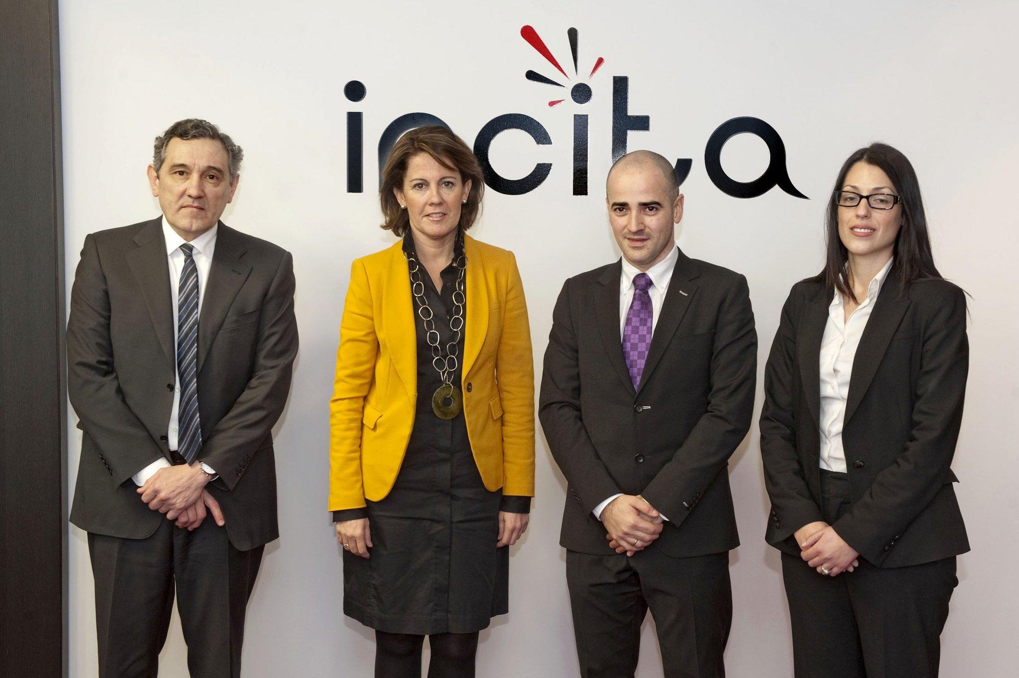 Barcina visita Incita, una empresa surgida en 2009, con un volumen de negocio de 7,5 millones