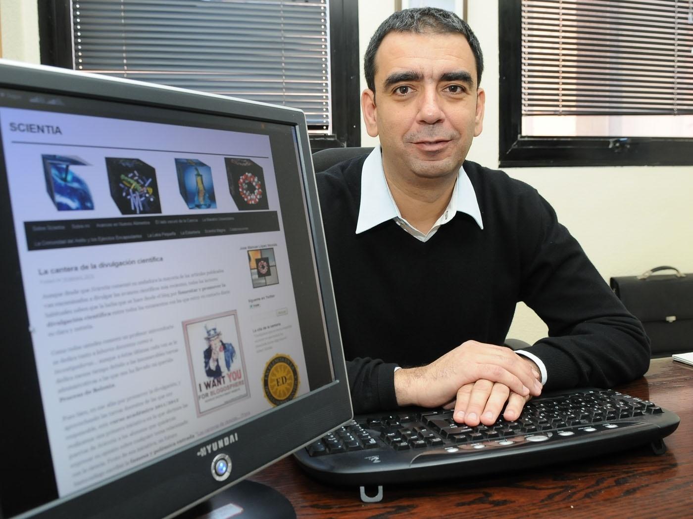 El profesor de la Universidad de Murcia José Manuel López Nicolás encabeza el ranking internacional de blogs de Biología