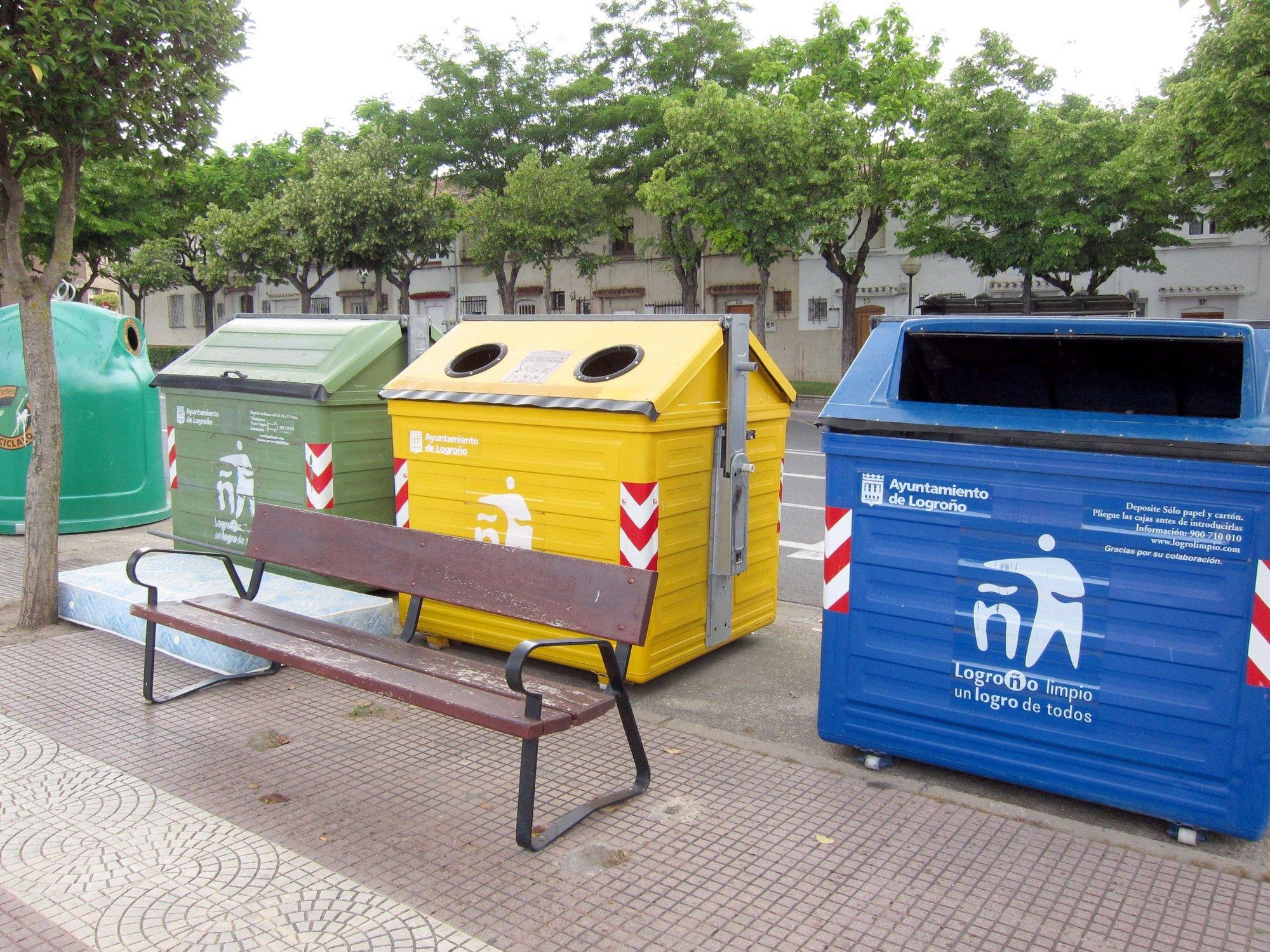 Cada logroñés generó el año pasado 289 kilos de residuos orgánicos, 12,5 de envases ligeros y 32,6 de papel y cartón