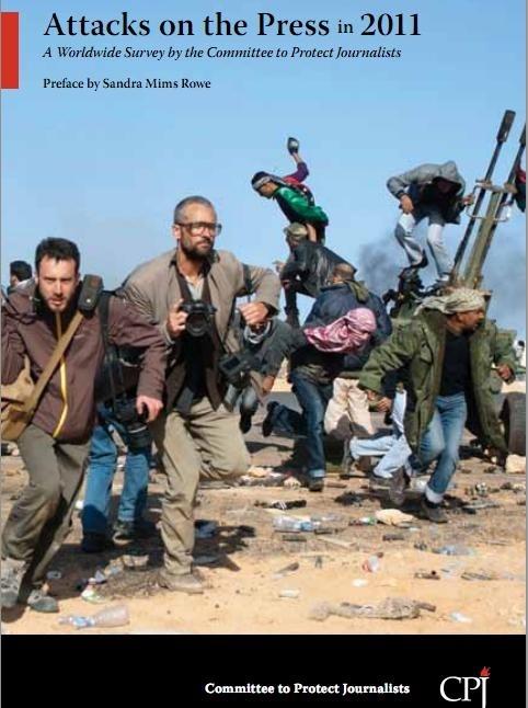 Un total de 46 periodistas fueron asesinados mientras trabajan en 2011 y 179 fueron encarcelados, según CPJ