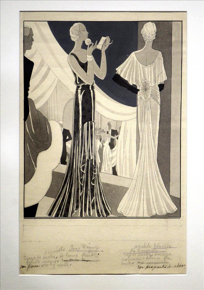 El Museo Balenciaga repasa la moda de los años 30 con dibujos de Sáenz Tejada
