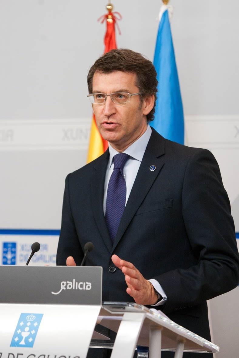Rajoy fijará la fecha del AVE después de presentar los Presupuestos y Feijóo se muestra «optimista»