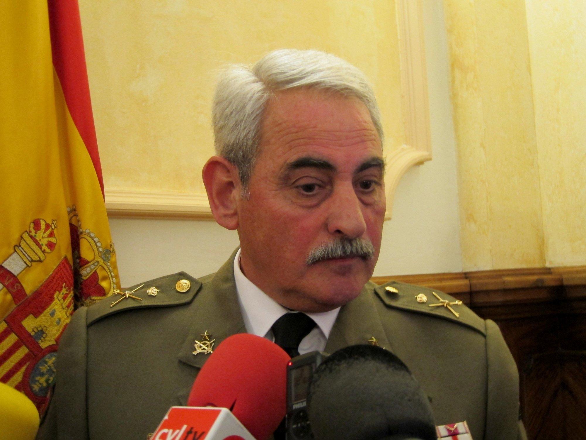 El comandante militar de Valladolid y Palencia asegura que el traslado desde La Rubia al Empecinado concluirá en mayo
