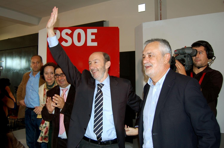 Rubalcaba participa este domingo en dos actos en El Ejido y Jaén y coincidirá con Griñán en el cierre de campaña