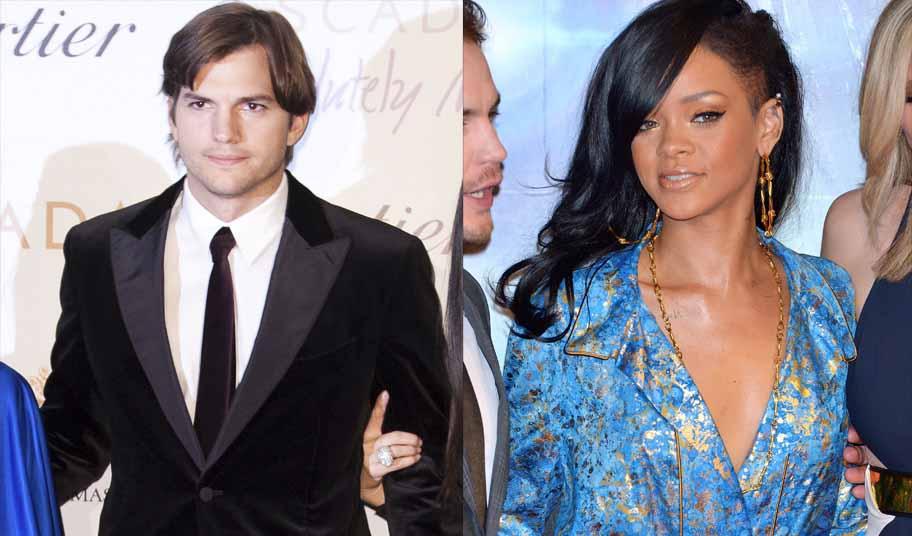 Aston Kutcher, el nuevo rompecorazones de Hollywood deja a Rihanna plantada
