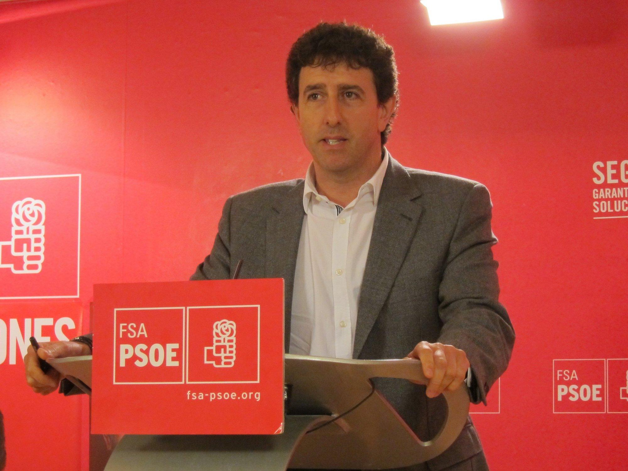 Jesús Gutiérrez (PSOE) critica que el Gobierno de Cascos no opine sobre los presupuestos