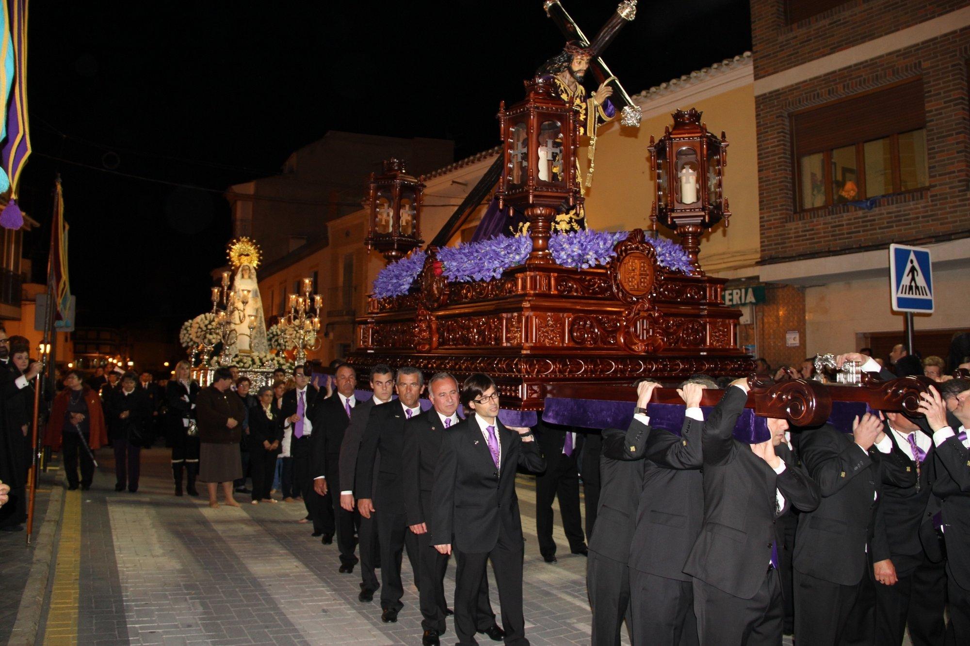 El Nazareno protagoniza la noche de Miércoles Santo en el municipio de Puerto Lumbreras