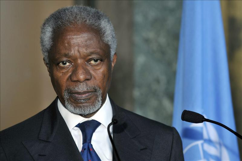 Annan visitará Irán el día 11 para abordar situación en Siria