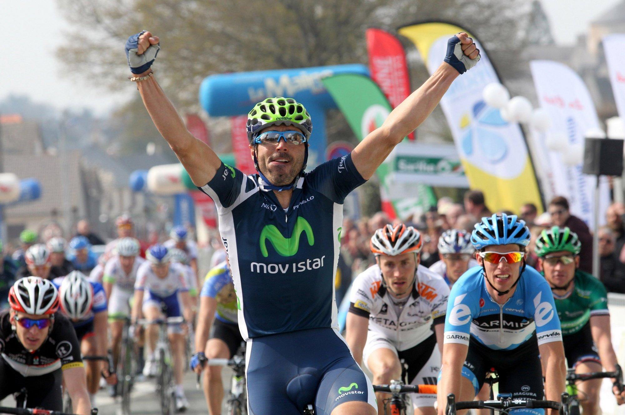 Ventoso (Movistar) recupera el sabor de la victoria en el Circuito de La Sarthe