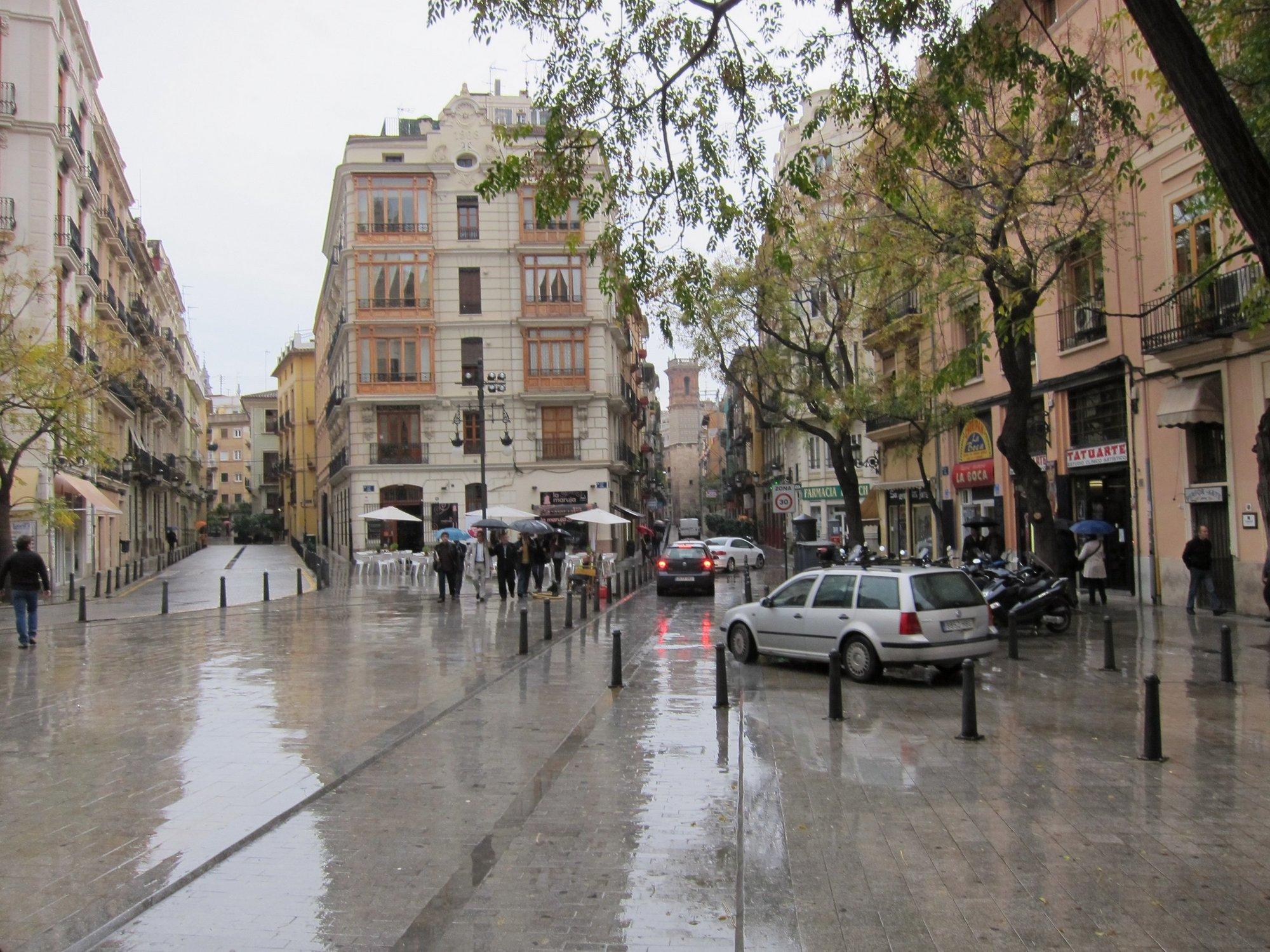 Las lluvias dejan hasta 30 litros por metro cuadrado en la Comunidad Valenciana