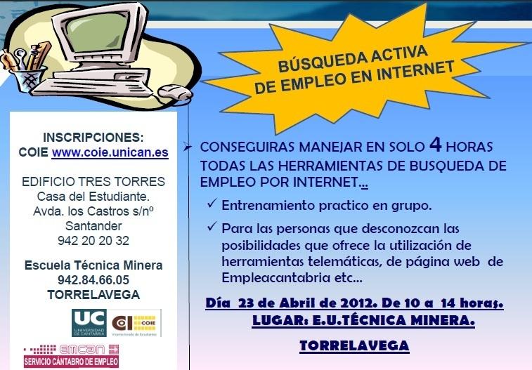 El COIE de la UC organiza un curso de búsqueda activa de empleo en internet