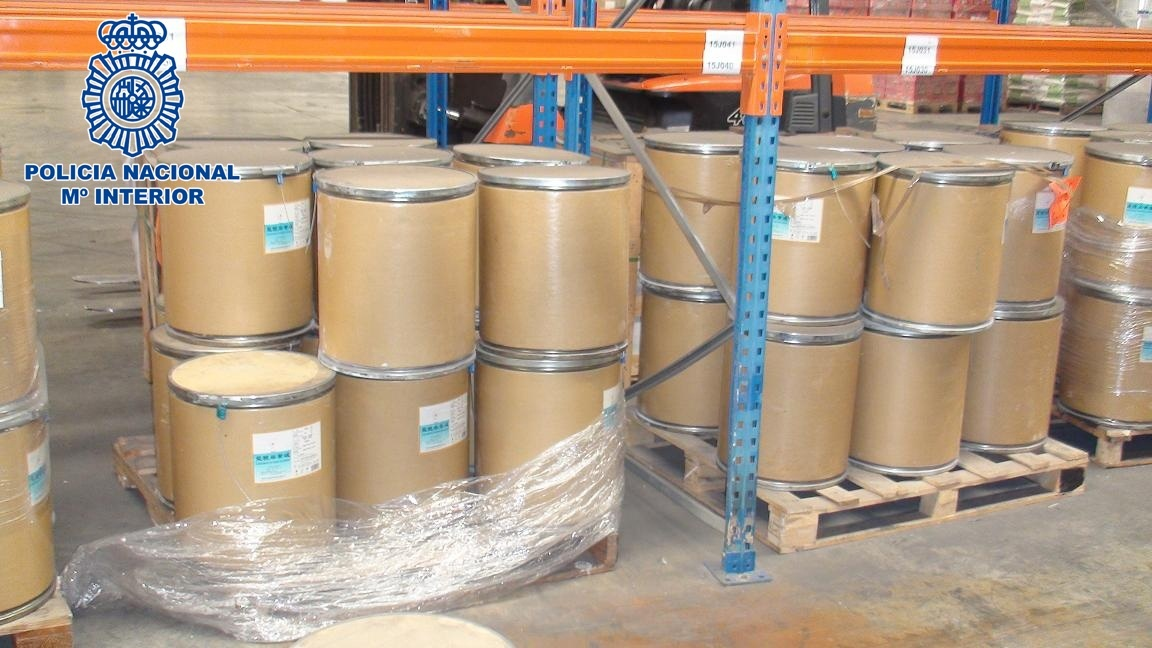 Interceptados en Algeciras 1.500 kilos de efedrina procedente de China para fabricar metanfetamina