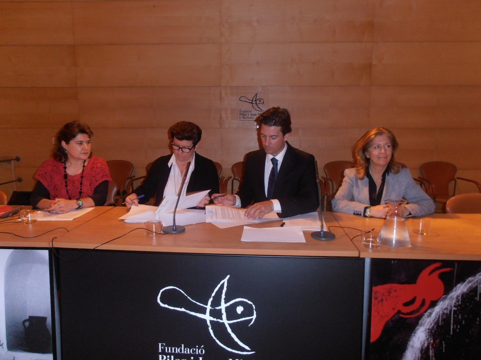 La Fundación Pilar i Joan Miró y el IMAS firman un convenio de colaboración para realizar actividades culturales