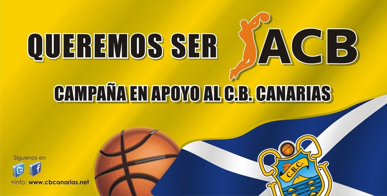 El CB Canarias lanza »¡Queremos ser ACB! ¿Y tú?» para recaudar dinero y poder hacer frente al canon