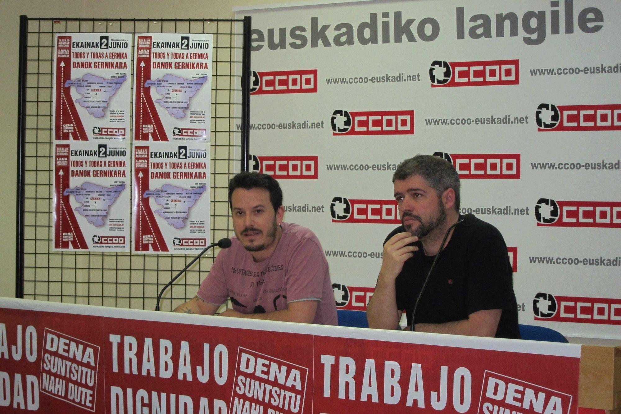 CCOO insta a los sindicatos a movilizarse para «forzar» la negociación colectiva ante la «irresponsabilidad» de patronal