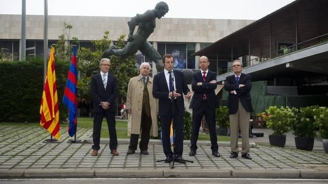 El FC Barcelona homenajea a Kubala en el décimo aniversario de su muerte