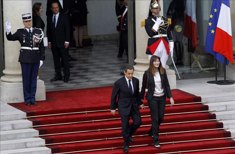 Sarkozy y Bruni, de vacaciones en Marrakech