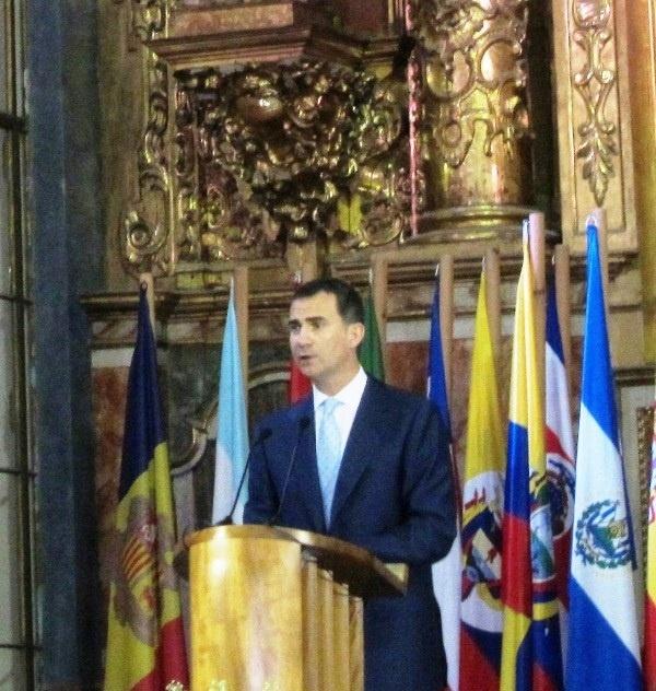 El Príncipe llama a Iberoamérica a reflexionar «juntos» los valores de la Pepa para «un futuro mejor»