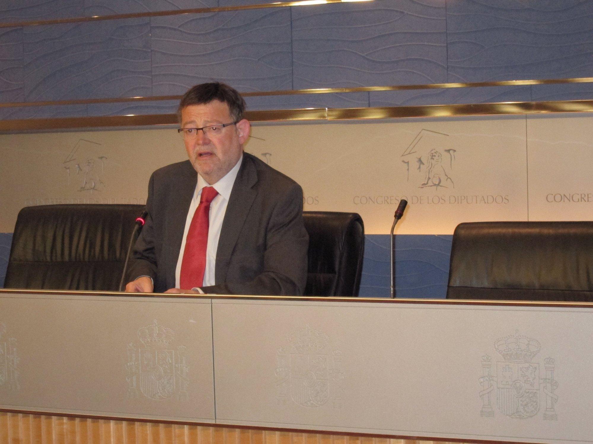 Puig afirma que la Comunitat «ya está intervenida política y económicamente» porque necesita el «rescate» del Estado