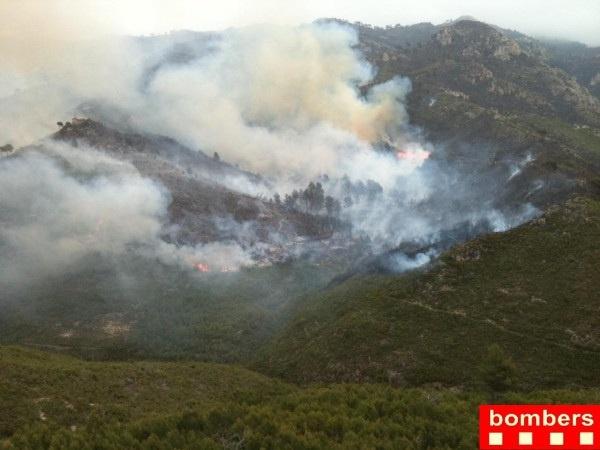 Puig admite que faltan bomberos voluntarios en Rasquera pero lo abordará tras apagar el fuego