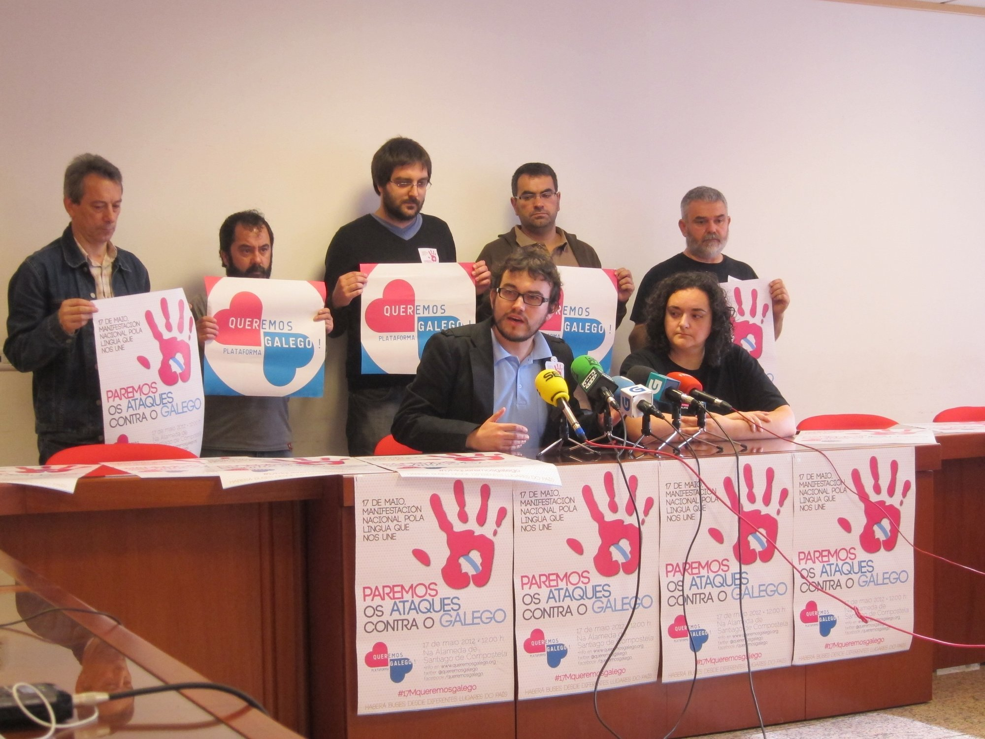 Queremos Galego convoca una «movilización masiva» en Santiago para «parar los ataques» al gallego