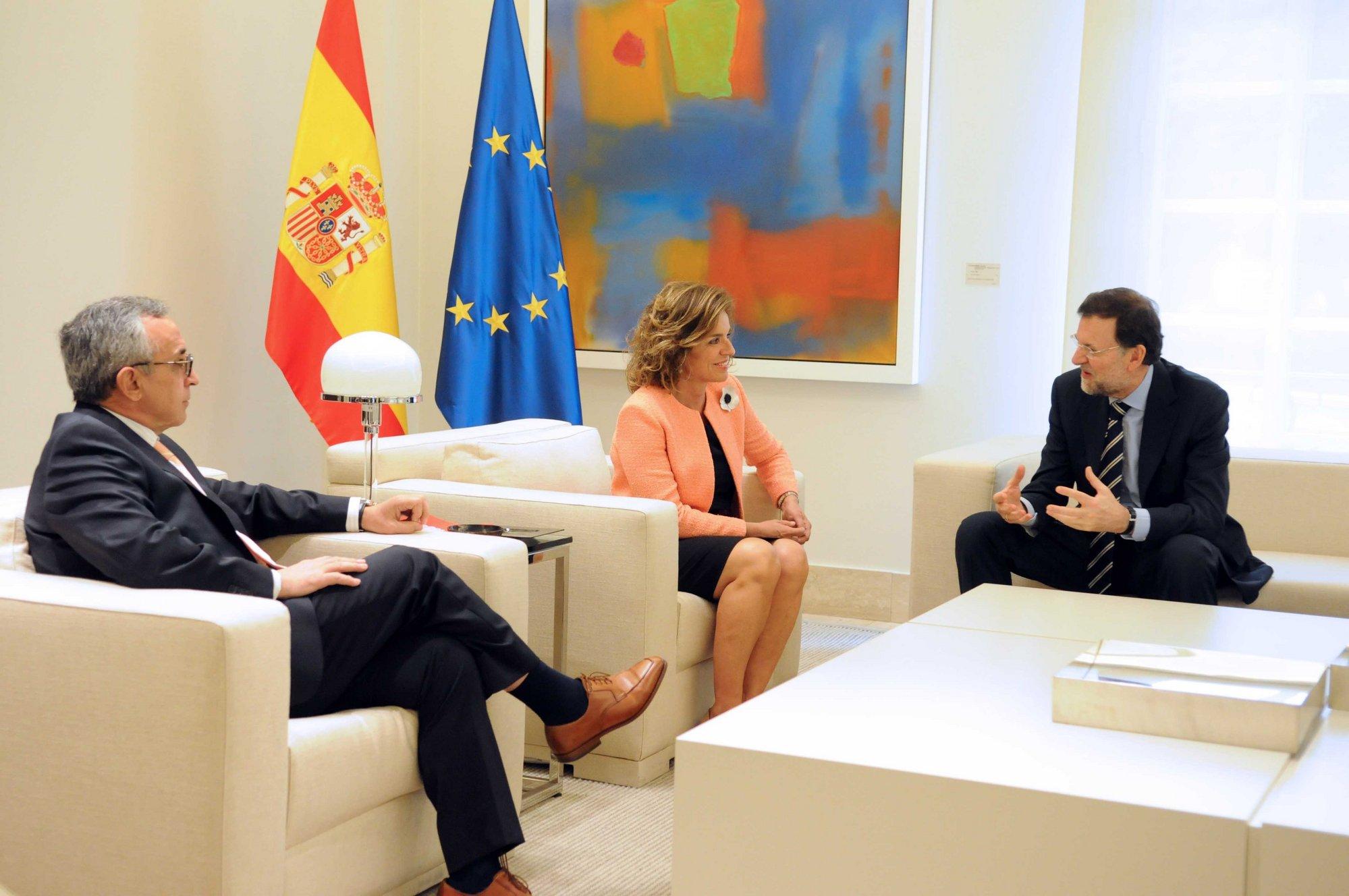 Rajoy reitera ante Botella y Blanco el apoyo del Gobierno a Madrid 2020