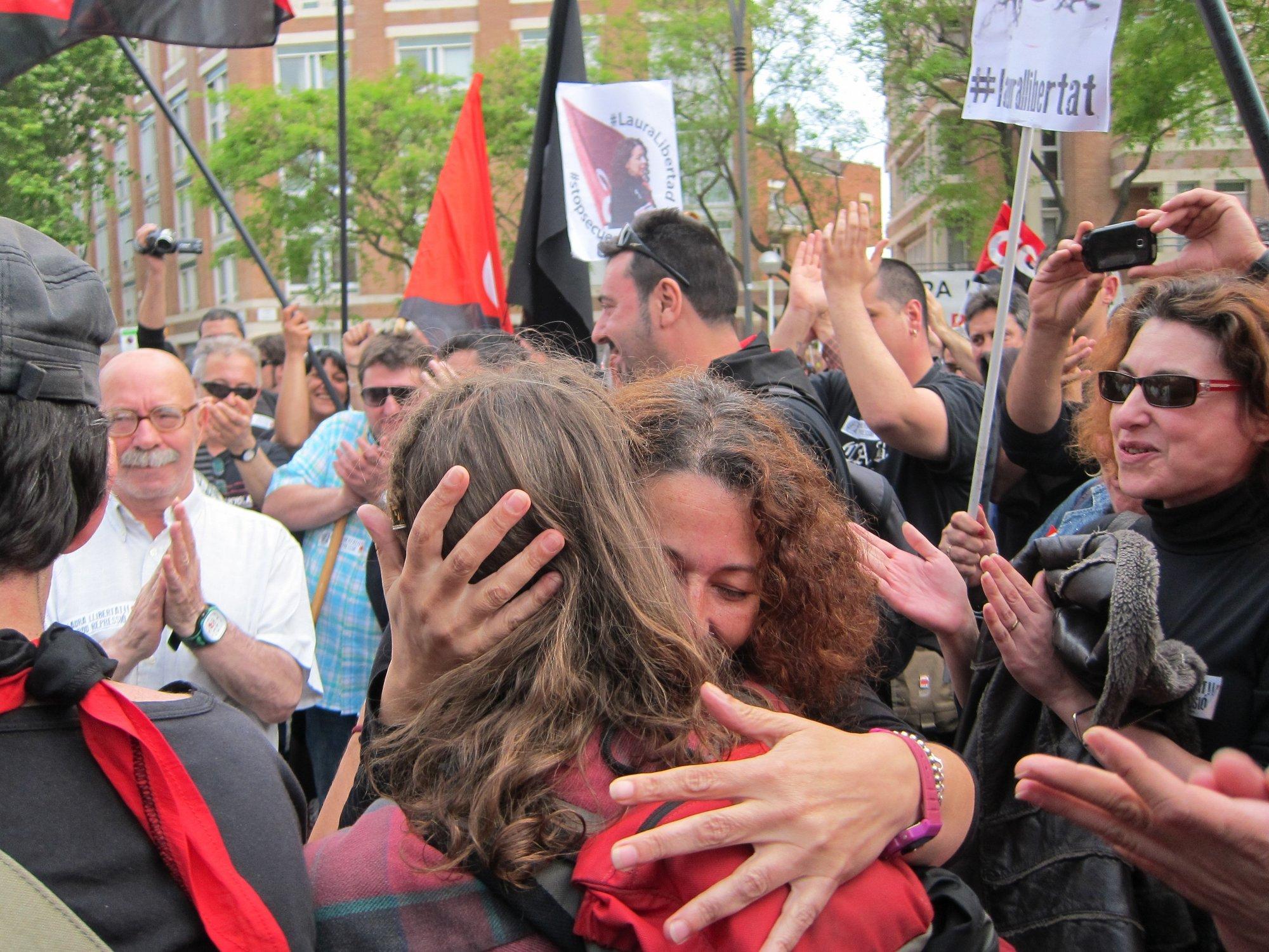 Sale en libertad la secretaria de organización de la CGT, Laura Gómez, tras 23 días en prisión