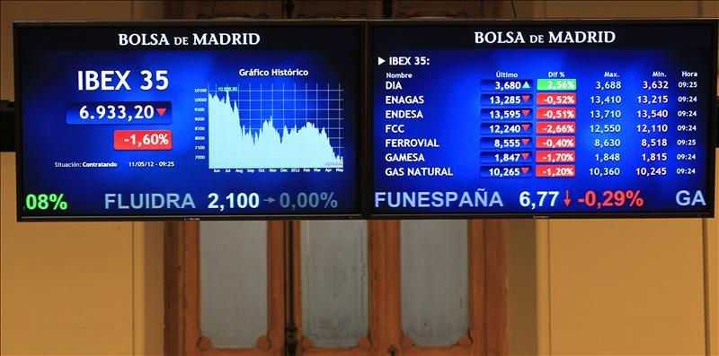 La bolsa española rebota en la apertura y el IBEX sube el 0,38 por ciento