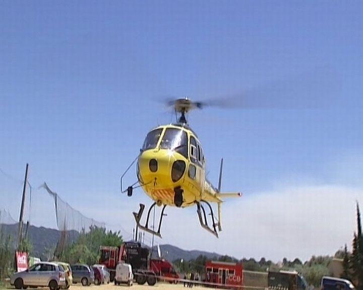 La extinción de Rasquera incorpora un helicóptero militar y otro de Agricultura